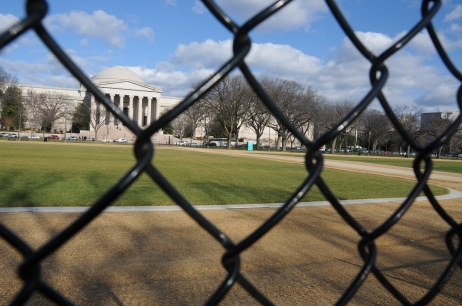 Turf renovation on the National Mall