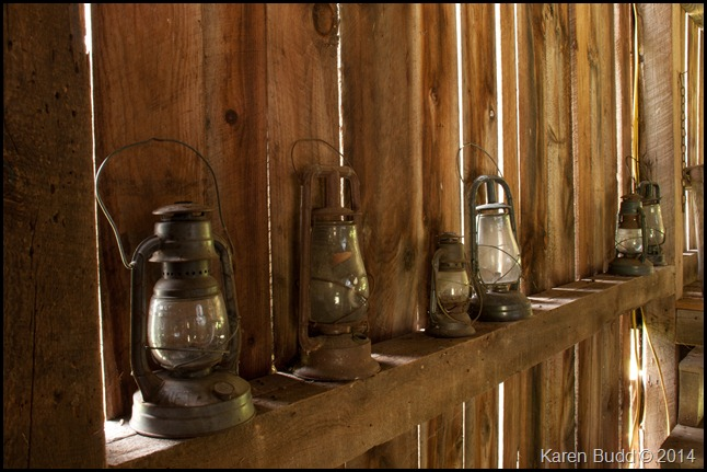 Lanterns in the barn