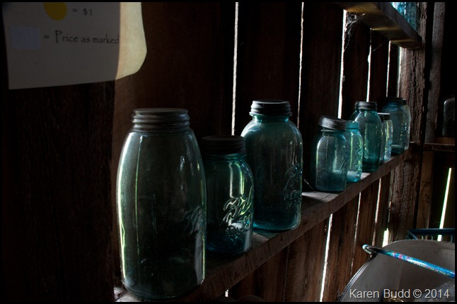 Jars in the barn